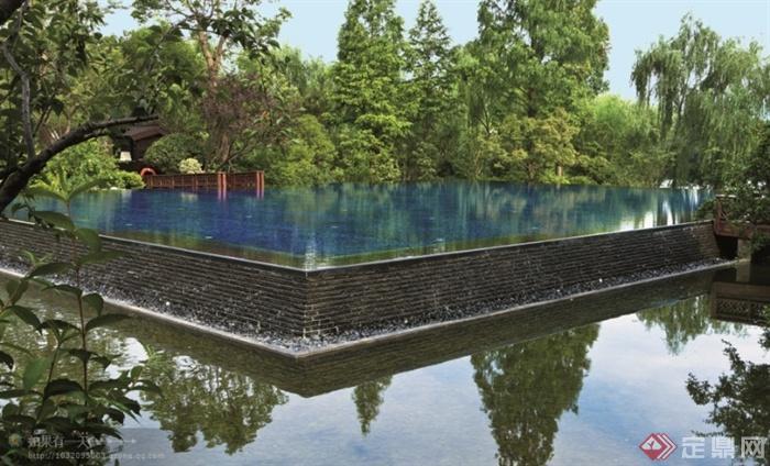 现代景观设计实景图及效果图-跌水景观景观水池-设计