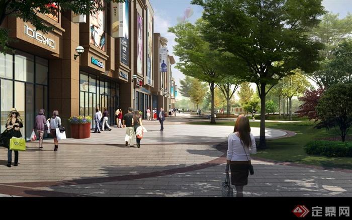 現代景觀設計實景圖及效果圖-街道環境沿街商鋪鋪裝
