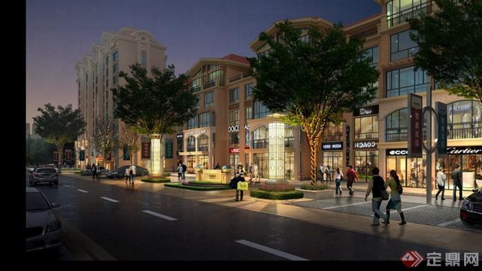 商业街,灯柱,标志,街道环境