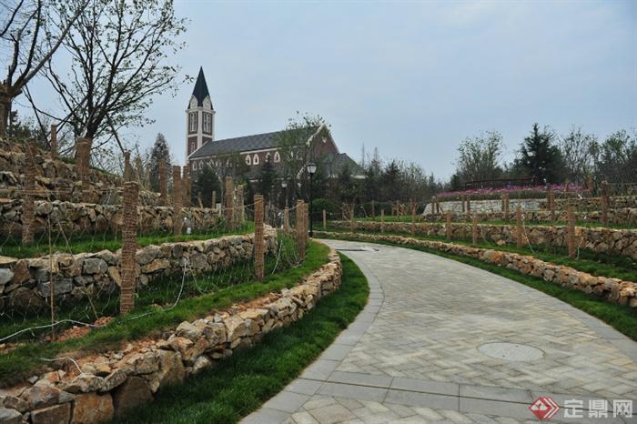 城市景观节点设计图-园路地面铺装-设计师图库