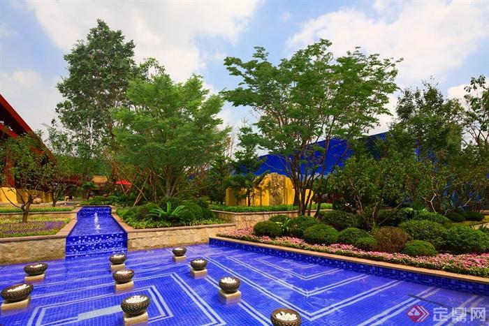 城市景观节点设计图-水池植物花台-设计师图库