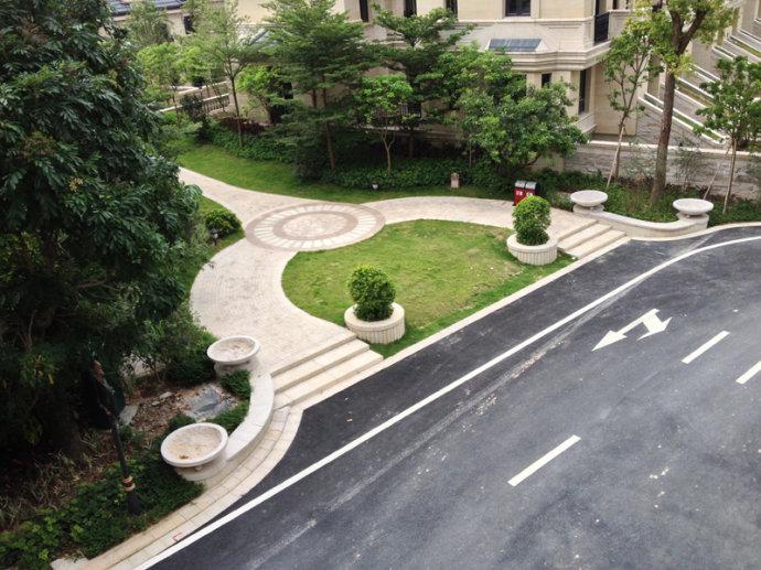 多张张绿化景观设计实景图 住宅景观花池园路 设计师图库图片
