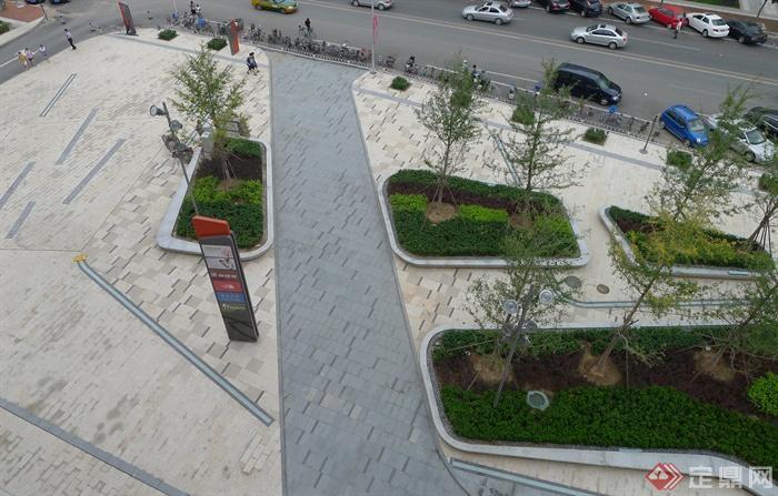多张张绿化景观设计实景图-种植池标志牌-设计师图库