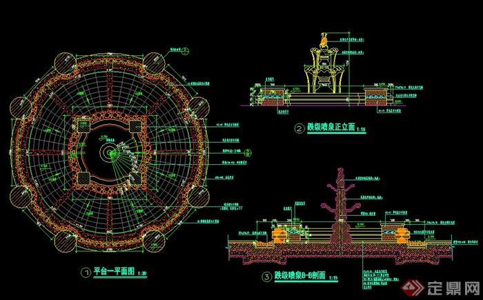 喷泉设计CAD施工图