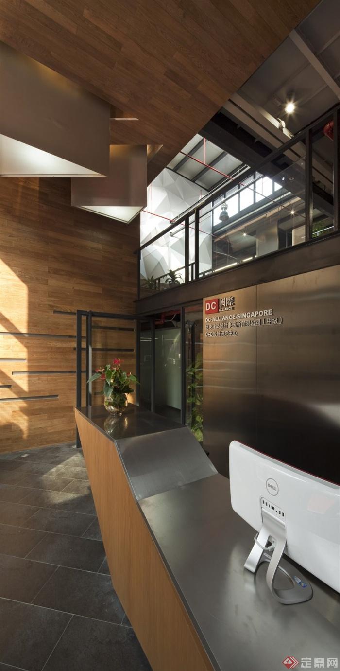 200张建筑,室内,景观实景-形象墙前台办公空间-设计师图片图片
