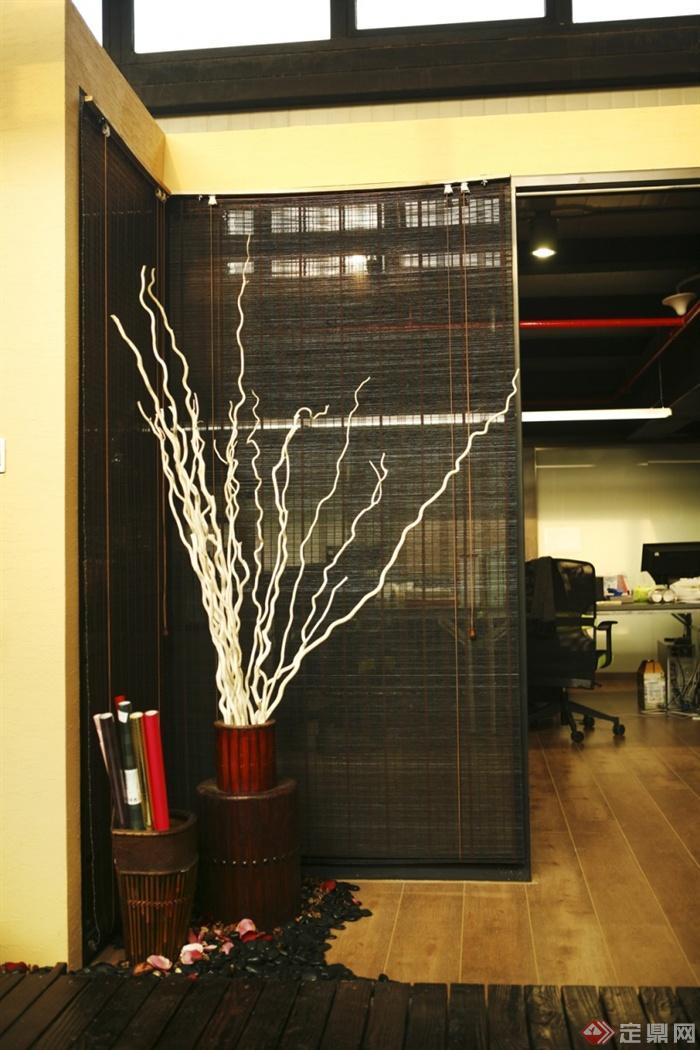 室內,景觀實景-干枝裝飾隔斷辦公室-設計