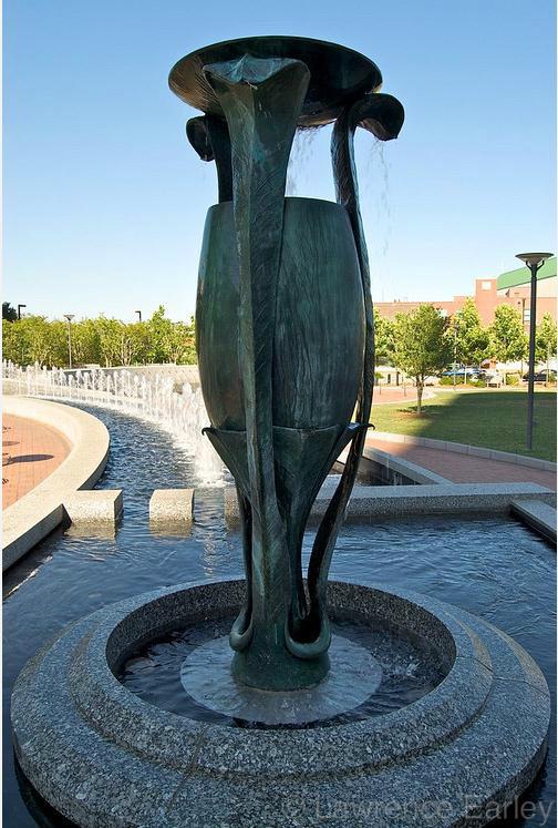 喷泉水景,雕塑水景,景观水池图片