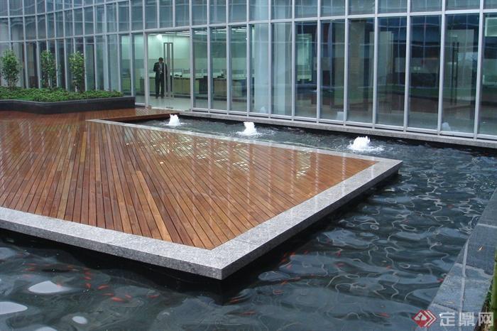 80張住宅景觀實景圖-木平臺景觀水池-設計師圖庫