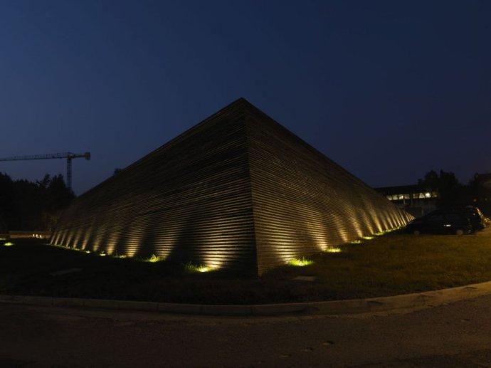 城市景观节点设计图-景墙植物地灯-设计师图库