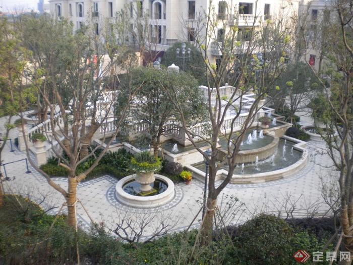 喷泉水景,住宅景观