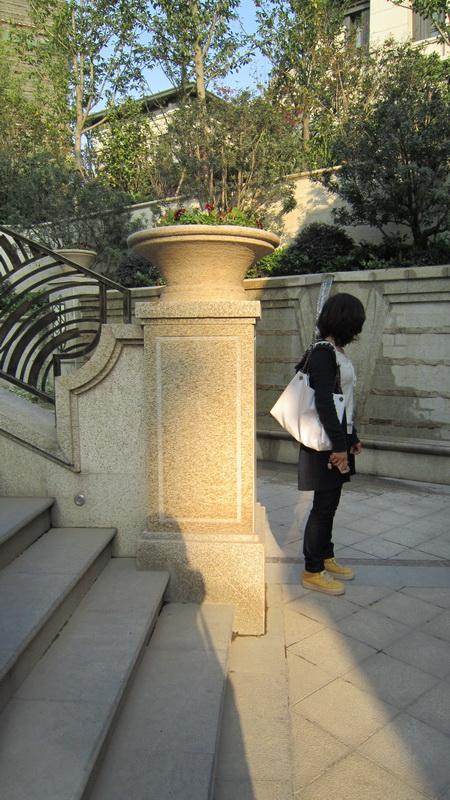 现代某住宅区景观规划设计图-花钵台阶植物-设计师