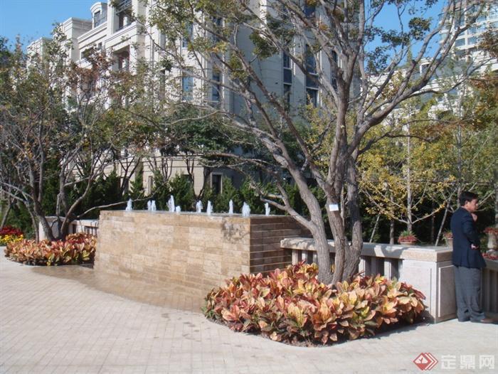 景观室内节点设计实景图-喷泉水景墙水景树池-设计师