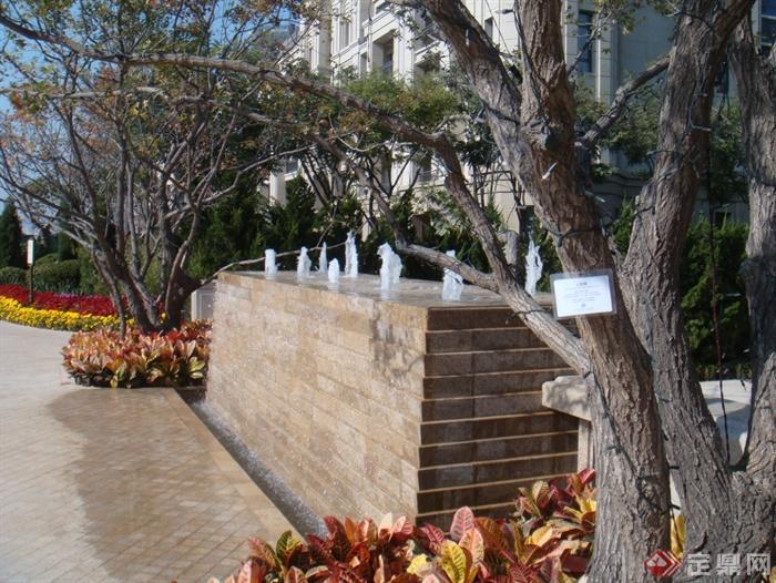 景观室内节点设计实景图-喷泉流水景墙景墙水景树池