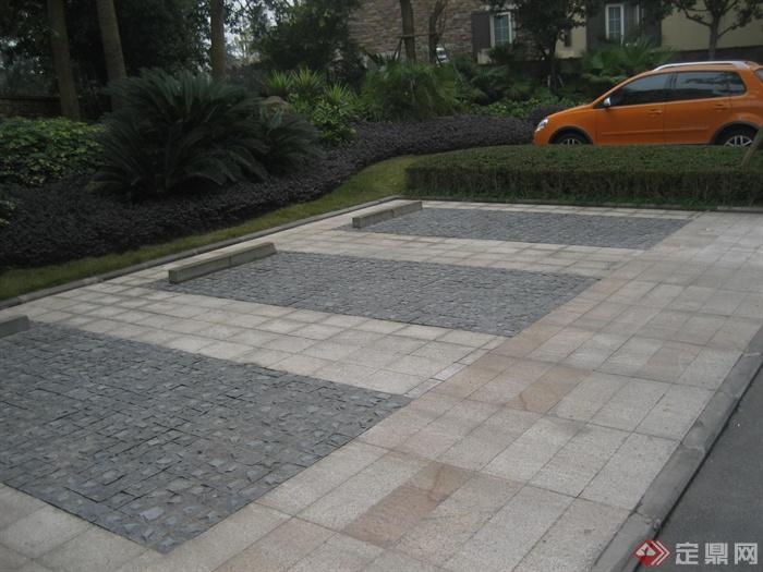现代某住宅区景观设计图-地面铺装-设计师图库