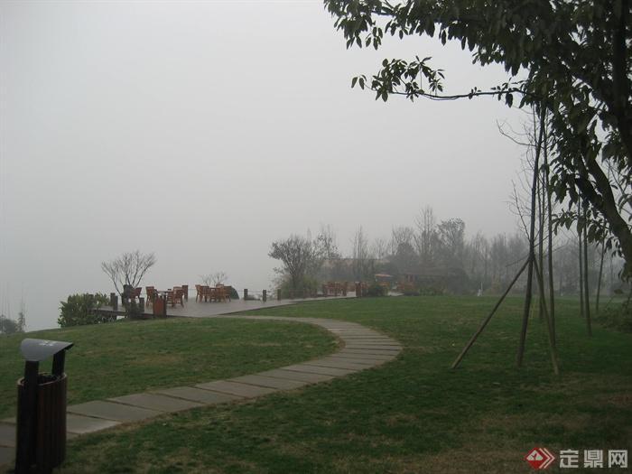 城市游园景观节点设计图-园路汀步草坪植物-设计师
