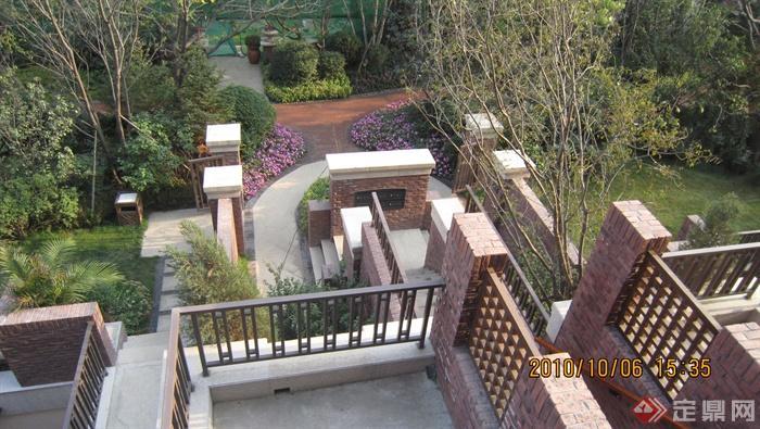 欧式住宅景观实景-庭院景观围墙景墙-设计师图库