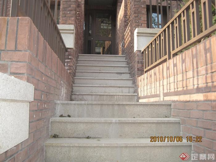 欧式住宅景观实景-台阶栏杆楼梯-设计师图库