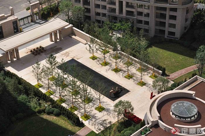 新古典风格小区景观-大门住宅景观景观水池树池-设计