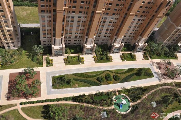 新古典风格小区景观-住宅景观小区景观园路绿化景观