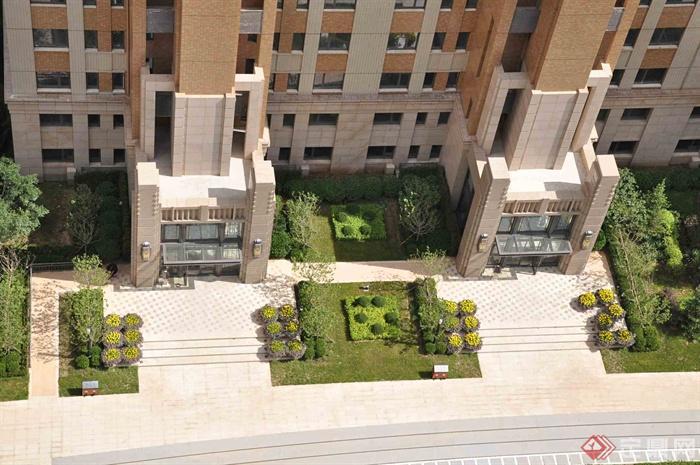新古典风格小区景观-住宅景观入户景观种植池-设计师
