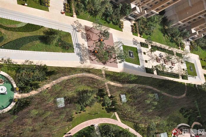 新古典风格小区景观-住宅景观小区景观-设计师图库