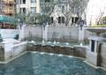 喷泉水景,跌水景观,花钵柱,景观水池