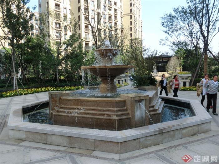 喷泉水池,跌水景观
