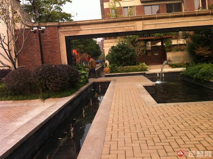 景观水池,喷泉水景