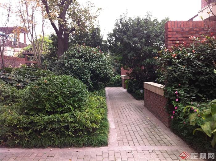 新古典风格小区景观实景图-庭院景观矮墙铺装-设计师