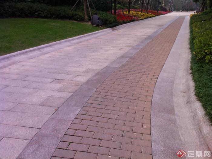 新古典风格小区景观实景图-道路园路铺装-设计师图库