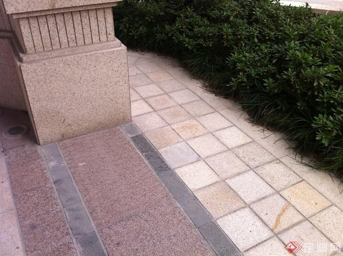新古典风格小区景观实景图-石材铺装-设计师图库