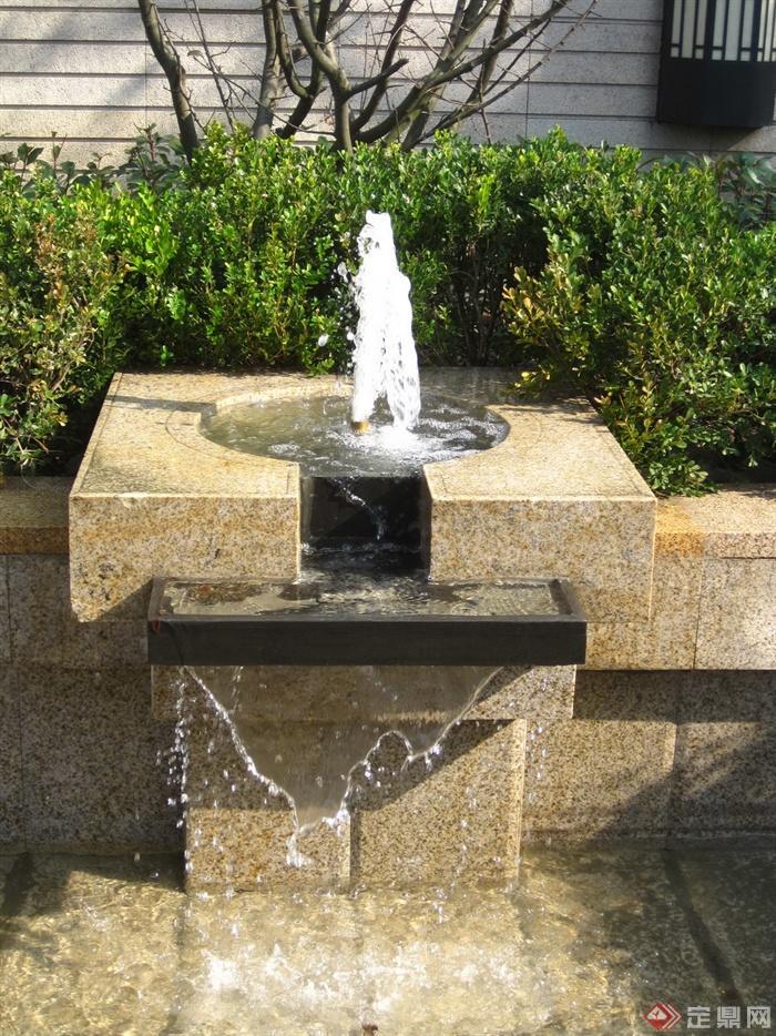 新古典风格小区景观实景图-喷泉水景跌水景观-设计师图片