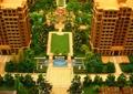 沙盘模型,住宅景观,凉亭,铺装,种植池,住宅建筑