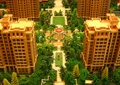 沙盘模型,住宅景观,铺装,凉亭,住宅建筑