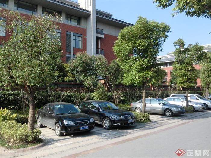 新古典风格小区景观实景图 停车场 设计师图库