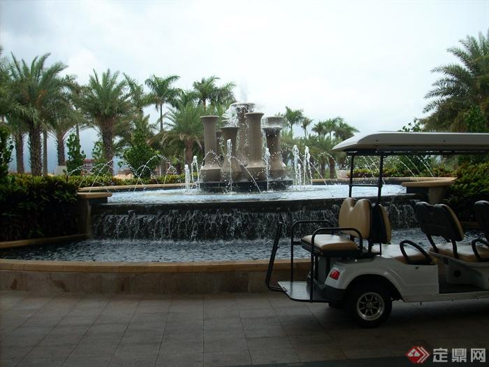 简欧风格小区景观-喷泉水景跌水景观景观水池-设计师