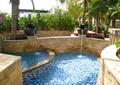 跌水景观,泳池,水钵,驳坎
