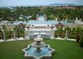 喷泉水景,景观水池,凉亭,草坪,景墙