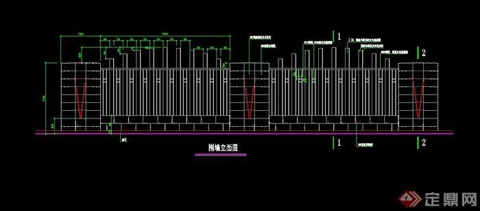 围墙设计CAD施工图