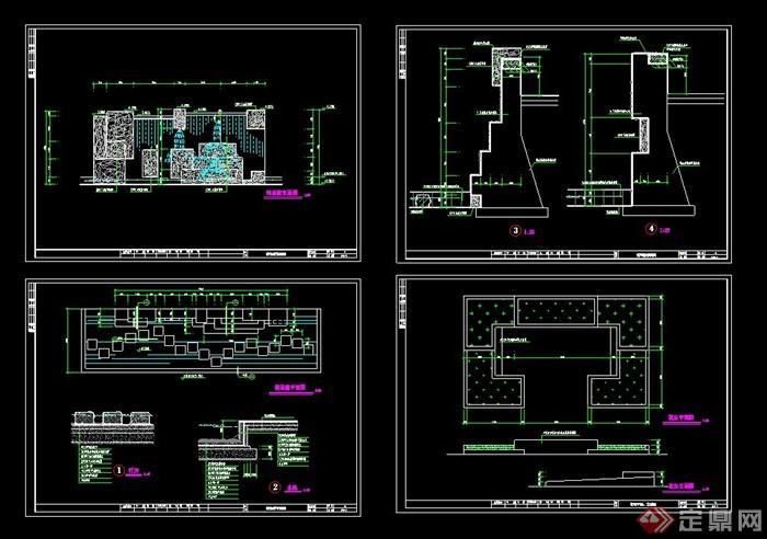 某水景墙设计CAD施工图