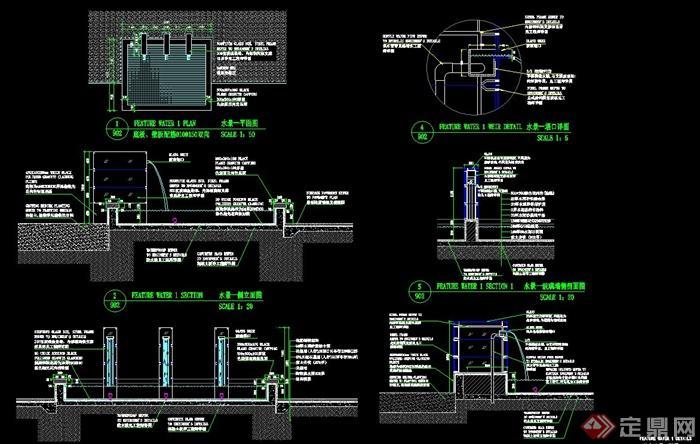 水景玻璃墙设计CAD施工图