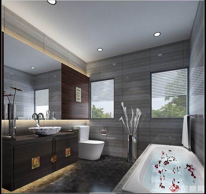 现代新中式风格室内设计效果图及物料表