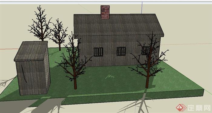 手绘房子建筑设计图展示