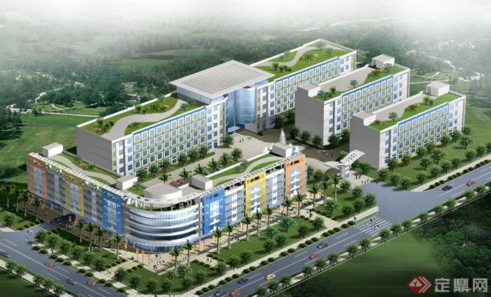 现代某多层联排工业宿舍建筑设计cad方案图