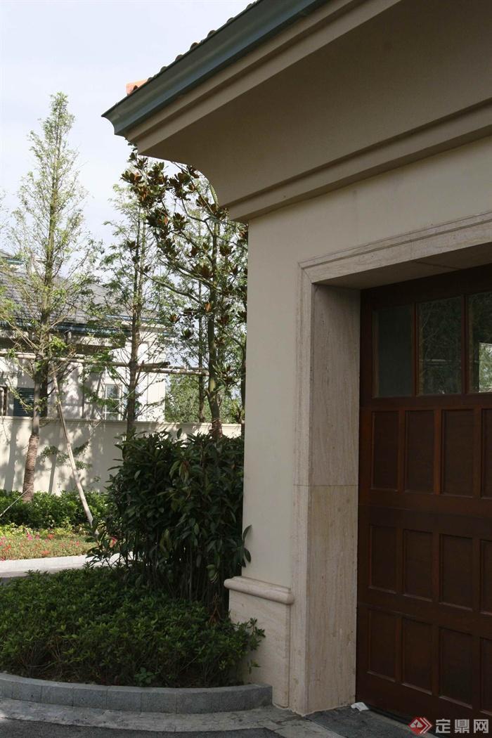 别墅建筑景观设计图-花池植物花台-设计师图库