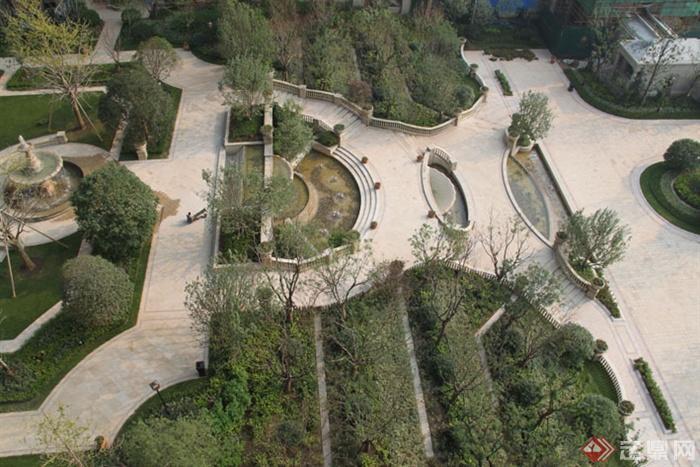 所别墅区景观设计别墅图-花园花园景观喷泉实景玩具森林图片