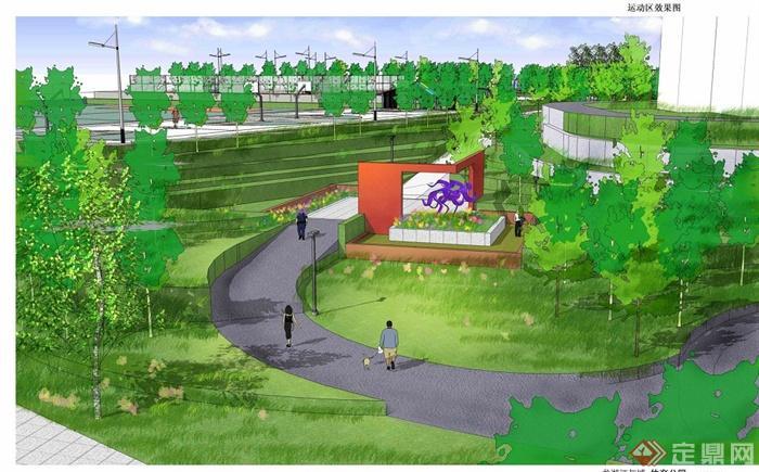 现代某体育公园景观规划设计jpg方案图