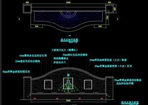 欧式水池设计CAD施工图-DWG园林景观设计方案效果图设计素材教学