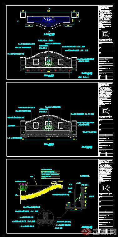 欧式水池设计CAD施工图