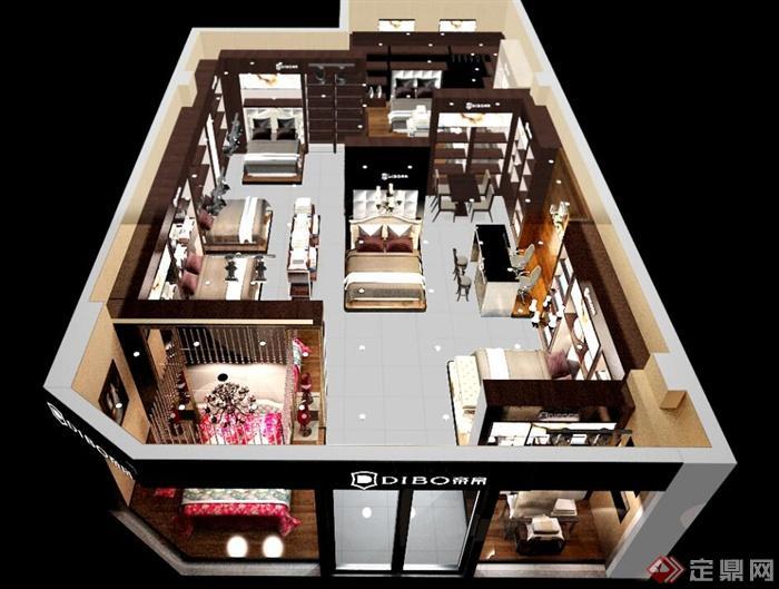 家居館,家具展廳,床,書桌椅,書柜